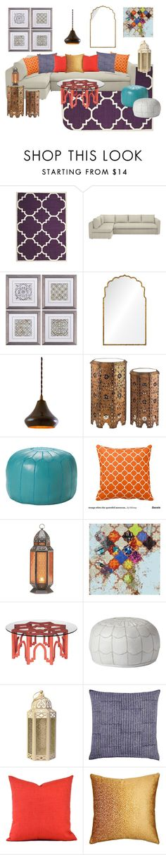"""""""Moroccan Inspired"""" by modern-glam-designs on Polyvore featuring interior, interiors, interior design, home, home decor, interior decorating, Unitex International, Mirror Image Home, Serena & Lily and Grandin Road"""