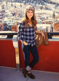 Keri Russell → Sundance 2013, buffalo plaid shirt, rolled up jeans and boots, casual style