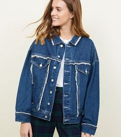 Shop the sharpest outwear for the season with New Look's new in jackets and coats, from anoraks to cropped jackets or comfy parkas. New Look Uk, Oversized Denim Jacket, Coats For Women, Parka, Latest Trends, Jackets, Blue, Clothes, Shopping