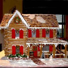 Finalist: Mountain Cabin 2011 Gingerbread House Contest Winners Photos Interior This Old House Gingerbread House Template, Gingerbread House Designs, Gingerbread House Parties, Gingerbread Village, Christmas Gingerbread House, Christmas Home, Gingerbread Cookies, Christmas Holidays, Italian Christmas