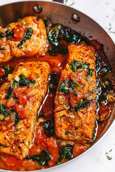 Tuscan Garlic Butter Salmon – – This easy and healthy salmon recipe takes just a few minutes of prep and makes a perfect weeknight meal in 30 minutes or less. – by Tuscan Garlic Butter Salmon – – This easy and healthy salmon recipe takes just a few … Salmon Dishes, Seafood Dishes, Seafood Recipes, Chicken Recipes, Cooking Recipes, Healthy Recipes, Cooking Icon, Copycat Recipes, Salmon Meals
