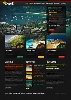 Be Right Back, Gone on a Vacation with this Travel & Tourism Template. #webdesign