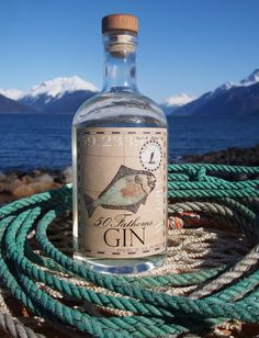 New- 50 Fathoms Gin from the Port Chilkoot Distillery in Haines Alaska