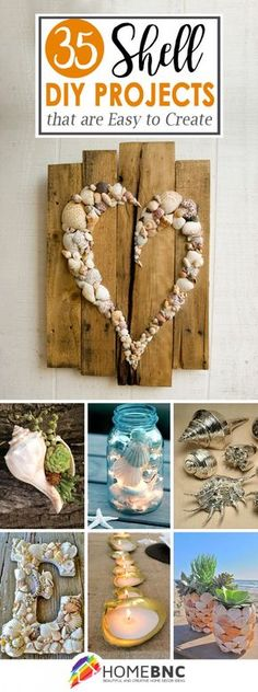 35 Entzückende DIY-Shell-Projekte für Strand inspiriertes Dekor - Hause Entzückende DIY-Shell-Projekte für Strand inspiriertes Dekor DIY These Seashell and Beach Craft Ideas Seashell Projects, Diy And Crafts, Arts And Crafts, Bead Crafts, Creation Deco, Seashell Art, Craft Projects, Diy Summer Projects, Project Ideas