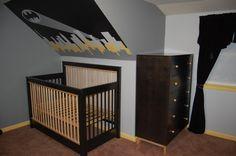 batman nursery progress - too cool not to pin Batman Nursery, Batman Room, Baby Batman, Our Baby, Baby Boy, Girl Nursery, Nursery Ideas, Room Ideas, Baby Mine