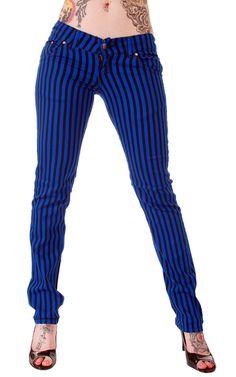 Emo Pants - Blue Pinstripes