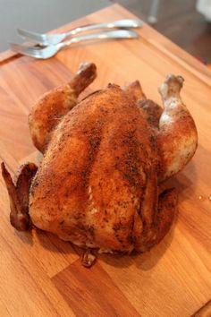 Chicken in the crock pot--tastes like rotisserie.