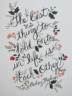 nice The Best thing to hold onto in Life, Print. Love this gorgeous Audrey Hepburn qu...by http://dezdemoonquotes4u.gdn