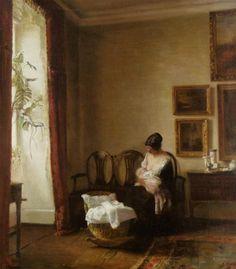 Carl Vilhelm Holsoe (1863-1935) Moderskab