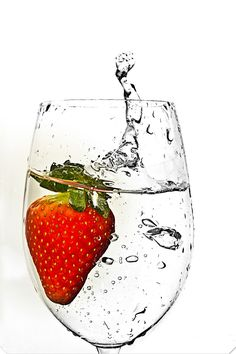 Strawberry in water wait what