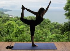 Standing bow pose in costa rica » Yoga Pose Weekly