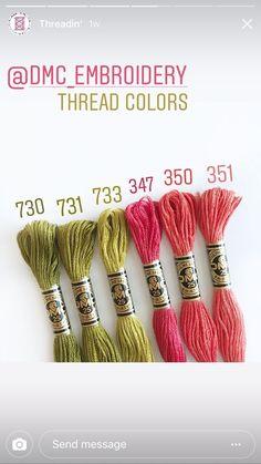 DMC color palette, color pairing, color combination