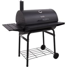 You can throw one heck of pig pickin' party with the Char-Broil American Gourmet 800 Series Charcoal Barrel Grill . This generously-sized barrel. Grilling Sides, Bbq Grill, Gourmet Grill, Barrel Grill, Best Charcoal Grill, Offset Smoker, Grill Design, Cast Iron Cooking, Bbq Party