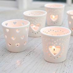 I've just found Ceramic Heart Tea Light Holder. Delicate and charming handmade ceramic tea light.. £4.20