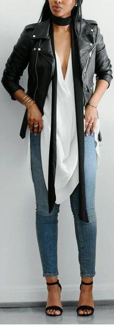 Fantastic Groupie Jeans / Jeans from @bikbok , Blouse/dress @hm , Heels @linzishoes / Fashion Look by femmeblk