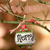 Found it at Wayfair - Merry Christmas Y'all Holly Leaves Ball Ornament