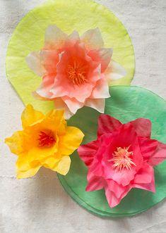 DIY Coffee Filter Lilies - Super Make It