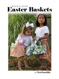 PDF Easter basket sewing pattern.