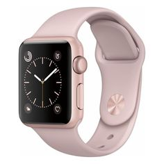 Apple Apple Watch Series 2 42mm Rose Gold Aluminum Case Pink Sand... ($299) ❤ liked on Polyvore featuring jewelry, watches, rose gold jewelry, sports watches, sports wrist watch, pink jewelry and sport wrist watch
