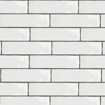 Mileto Brick White Gloss Porcelain Wall Tile - 75 x 300mm Medium Image