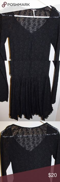 Free People Long Sleeve Dress Lace FP Dress- minor small hole (pictured) Free People Dresses Long Sleeve