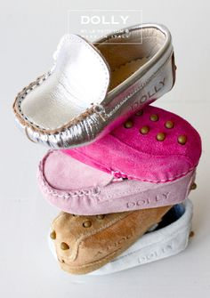 easily the most darling baby shoe ever.  DOLLY by Le Petit Tom ® BABY MOCCASIN 3MO