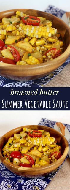 Browned Butter Summer Vegetable Saute - fresh veggies with just enough browned butter for a nutty, rich flavor. Gluten free. | http://cupcakesandkalechips.com