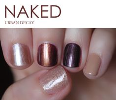 Naked nail polish set by Urban Decay. This must be a dream... I like the thumb color best