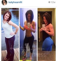 Super motivational following Katy Hearn's fitness journey on Instagram, proof that it's all about what you eat and exercise can sculpt your body