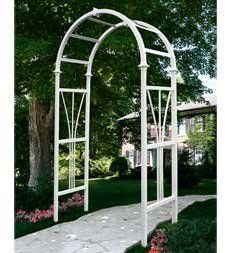 Dublin Arbor . $199.95. Dublin Arbor. Add distinction to any yard with the affordable addition of this classic Arbor. Use it to create an impressive entrance to your garden, or as the centerpiece of a peaceful, flower-covered outdoor space. Quality crafted from weather-resistant vinyl for the look of wood without any of the work. Never needs staining, painting or maintenance - just rinse with a garden hose to keep it looking like new. Will not warp, crack, rot, discolo...