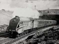 Sir Nigel Gresley emerging from Potters Bar Tunnel in 1939 - from Facebook - 10.5.2014