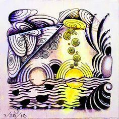 Zentangle Drawings, Zentangles, Easy Zentangle Patterns, Zen Colors, Doodle Art Designs, Zen Doodle, Tangled, Switzerland, Doodles