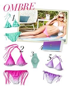 Call us #ombre obsessed: Our fave new swimsuit trend mixes pastel with a bit of dip dye #swim #spring