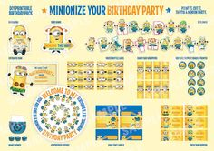 Minions Despicable Me Printable Birthday Party by Etheralinpink
