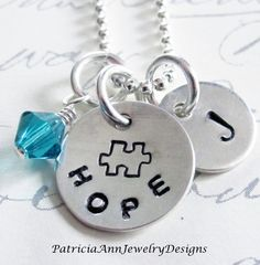 Autism Awareness Jewelry  Puzzle Piece  by Patricia8Anderson, $32.50
