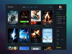 Cinema app dashboard by CraftedPixels