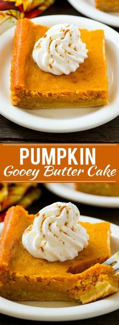 Pumpkin Gooey Butter Cake Recipe - RICH, DECADENT AND INCREDIBLY DELICIOUS – YOU MUST MAKE THIS! IT'S THE PERFECT END TO ANY FALL MEAL.