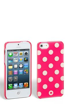 Pink + Kate Spade + Polka Dots = Cutest iPhone case.