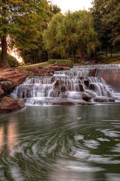 Hampton Cove Waterfall in Huntsville, Alabama