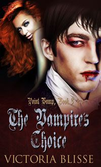 The cover for The Vampire's Choice. Available 16th April.