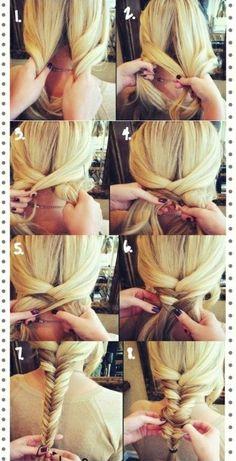 Havalı bir saç örgüsü yapmak çok kolay!