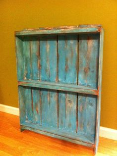 Pallet Shelf Turquoise distressed Rustic