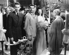 Left to Right: James Stewart, Cary Grant & Ingrid Katherine Hepburn in The Philadelphia Story (1940)