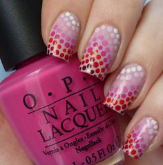 Nail art - Love the fun ombre dots