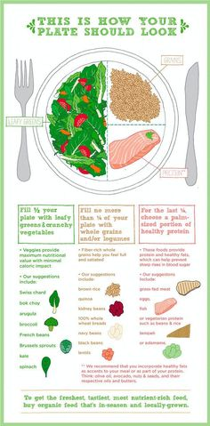 This is how is your plate should look like to eat healthy