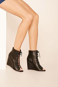 FOREVER 21+ Lace-Up Wedge Sandals