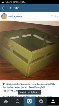 Homemade ballet crate-chalk paint-old rope