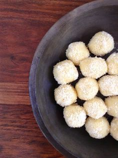 Recipe for Instant Coconut Laddoo | Coconut Fudge - 3 Ingredients, 2 Minutes