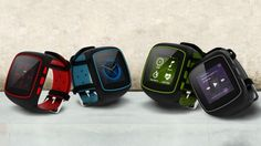 The WearIT is an Android-powered smartwatch aimed at sports and outdoor use.