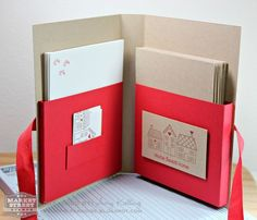 Such a great gift idea-inside with cards and envelopes. Stamp-n-Paradise: Market Street Stamps and Scor-Pal